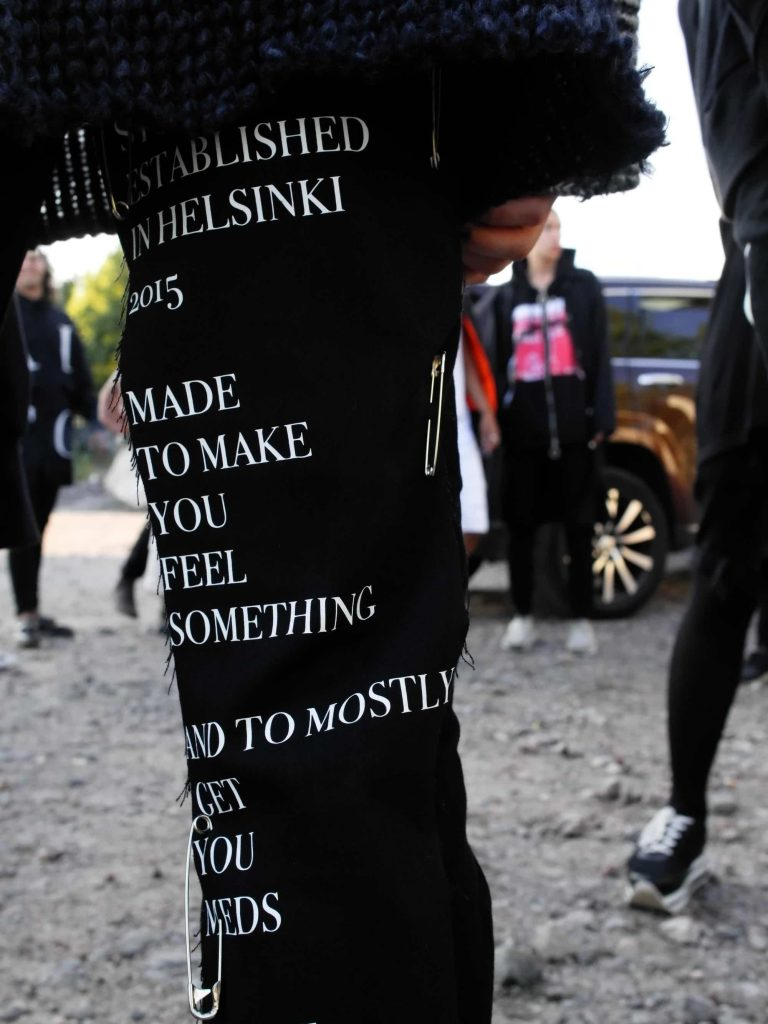 pants with something written